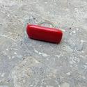 Piros hosszúkás kerámia gyűrű, Ékszer, óra, Gyűrű, Ékszerkészítés, Kerámia, Saját készítésű, egyedi kerámia ékszer,tervezetten szabálytalan,trendi, modern darab. Színes kerámi..., Meska