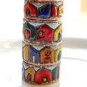 Hundertwasser - tűzzománc-réz gyűrű , Ékszer, óra, Gyűrű, Ékszerkészítés, Tűzzománc, Zárt, karikagyűrű, tűzzománcozva. Belső átmérője 16,5 mm, 17 mm, 17,5 mm, 18 mm. Nem állítható. Ant..., Meska