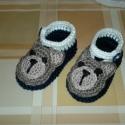 Horgolt baba cipő., Baba-mama-gyerek, Ruha, divat, cipő, Baba-mama kellék, Cipő, papucs, Horgolás, Horgolt baba cipő használható kocsicipőnek,fényképezéshez.Pamut fonalból készültek.Talpméret 9cm.Kis..., Meska