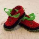 Horgolt baba cipő., Baba-mama-gyerek, Ruha, divat, cipő, Baba-mama kellék, Cipő, papucs, Horgolás, Horgolt baba cipő kislány,kisfiu  használható kocsicipőnek,fényképezéshez.100% Pamut fonalból készü..., Meska