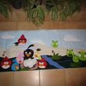 Angry Birds falvédő 200x80 cm, Baba-mama-gyerek, Gyerekszoba, Falvédő, takaró, Varrás,   A képen látható falvédő applikációs technikával készült. A falvédő 3 rétegű, középen 1 cm vastag ..., Meska