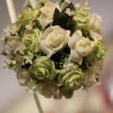 Egyedi és különleges selyem gömb - ballagásra,esküvőre is!, Esküvő, Dekoráció, Esküvői csokor, Dísz, Virágkötés, A gömbök kézzel készültek egyedi elképzelések alapján. Ragasztással kerültek fel hungarocell gömbre..., Meska
