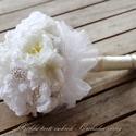 Vintage menyasszonyi csokor,örök csokor,különleges és romantikus esküvőre., Dekoráció, Esküvő, Esküvői csokor, Ünnepi dekoráció, Virágkötés, Örökké tartó csokrok.  Imádjuk a vanília,bézs,ezüst egyvelegét.   Gyönyörű vintage menyasszonyi cso..., Meska