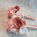 Selyem gömbcsokor,örök csokor,koszorúslánynak,ballagásra is!, Dekoráció, Esküvő, Esküvői csokor, Ünnepi dekoráció, Virágkötés, Örökké tartó csokrok  Gyönyörű csokor selyem tartós virágokból koszorúslánynak,dobócsokornak esküvő..., Meska