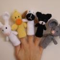Háztáji ujjbábok RENDELHETŐ, Baba-mama-gyerek, Játék, Báb, Baba-és bábkészítés, Horgolás, Hollári hollári hóóóó ujjbábozni jaj de jóóó!!! Kis háztáji bárány, malac, kacsa, boci és csacsi vá..., Meska
