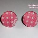 Textil Gomb ékszerszett - Piroska - 11.-Rendelésre, Ékszer, óra, Ékszerszett, Ékszerkészítés, Ez a szett pillekönnyű viselet. Az általam behúzott textil gombokból készült. Bedugós + akasztós fü..., Meska