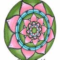 1/11. Energia Mandala, Dekoráció, Képzőművészet , Festmény, Festészet, Festett tárgyak, Ez a szín tetszett a legjobban? Akkor Neked erre az energiára van szükséged!  Ebből a mandalából le..., Meska