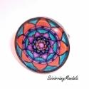 1/6. Energia Mandala   - rúdiumos, nikkelmentes Mandala szett, Ékszer, óra, Ékszerszett, Ékszerkészítés,  A szett saját festett mandalám reprodukciója. francia kapcsos alapra üveglencsével készült.  (Kérh..., Meska