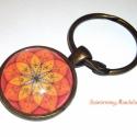 2/1. Boldogság mandala - Energia Mandala - mandala kulcstartó- an.bronz