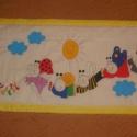 dzsungel falvédő, Baba-mama-gyerek, Gyerekszoba, Falvédő, takaró, Festészet, Népszerű mesehős mintával, tartós gyerekbarát textilfestéssel készült pamut dzsungel állatai mintáj..., Meska