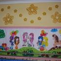 eperke falvédő , Baba-mama-gyerek, Gyerekszoba, Falvédő, takaró, Festészet, Népszerű mesehős mintával, tartós gyerekbarát textilfestéssel készült pamut falvédő  2 méteres, 260..., Meska