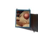Hőlégballonos asztali tolltartó, Otthon, lakberendezés, Tárolóeszköz, Doboz, Decoupage, szalvétatechnika, Asztali tolltartó hőlégballon dekorációval. Azonos szettben irattartó papuccsal. , Meska