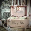 Esküvői nászajándékos doboz, Dekoráció, Esküvő, Ünnepi dekoráció, Nászajándék, Decoupage, szalvétatechnika, Festett tárgyak, Ha az esküvőtök minden részletébe az egyediséget szeretnétek belevinni, ha kedvelitek a romantikus,..., Meska