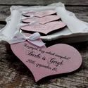Hűtőmágnes szív - esküvői köszönőajándék személyre szabva, Dekoráció, Esküvő, Ünnepi dekoráció, Meghívó, ültetőkártya, köszönőajándék, Decoupage, szalvétatechnika, Festett tárgyak, Ha az esküvőtök minden részletébe az egyediséget szeretnétek belevinni, ha kedvelitek a romantikus,..., Meska