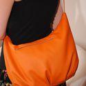 Narancs textilbőr válltáska cipzárral, Táska, Válltáska, oldaltáska, Varrás, Narancs színű textilbőr, igazi pakolós válltáska, cipzáras első zsebbel. Bélése 100 % pamut. Cipzár..., Meska