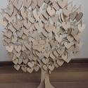 Esküvői fa, Esküvő, Nászajándék, Esküvői dekoráció, Famegmunkálás, Saját készítésű, különleges vendégkönyv, fából készült fa. A násznép a szívecskékre írja jókívánság..., Meska