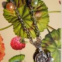 A csodacsiga, Ékszer, óra, Medál, Nyaklánc, Ékszerkészítés, Fémmegmunkálás, Vintage stílusú technikával készült antikolt ezüst nyaklánc (kérésre gyűrűvel és karkötővel ki tudo..., Meska