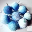 Kék ombre, Dekoráció, Otthon, lakberendezés, Lámpa, Hangulatlámpa, Papírművészet, Kék ombre 8 gömbös gömböcsor, különleges és trendi színvilága bensőséges hangulatot teremt, az otth..., Meska