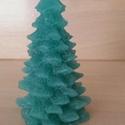 Karácsonyfa alakú, fenyőillatú gyertya, Otthon, lakberendezés, Dekoráció, Karácsonyi, adventi apróságok, Gyertya, mécses, gyertyatartó, Ünnepi dekoráció, , Meska