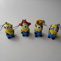 Minion kulcstartó, Mindenmás, Kulcstartó, Gyurma, Aranyos minion kulcstartók, mindenki talál kedvére valót közülük. :) Mérete: 3,5 cm (10 gramm)  Szé..., Meska
