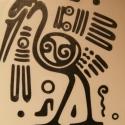 Falmatrica:( azték madár), Dekoráció, Dísz, Kép, Falmatrica, Fotó, grafika, rajz, illusztráció, Falra vagy más ,használati tárgyra ragasztható matrica. Bárhová, ahová csak szeretnéd.  Mindkét o..., Meska