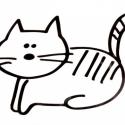 Falmatrica:( macska), Dekoráció, Otthon, lakberendezés, Kép, Falmatrica, Fotó, grafika, rajz, illusztráció, Macska, cica kedvelő állatbarátok figyelmébe ajánlanám,ezt a kedves,szelíd cirmost. Falra vagy más ..., Meska