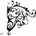 Falmatrica (bika), Dekoráció, Férfiaknak, Kép, Falmatrica, Fotó, grafika, rajz, illusztráció, Falra vagy más ,használati tárgyra ragasztható matrica. Bárhová, ahová csak szeretnéd.  Mindkét old..., Meska