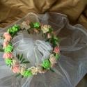 vintage rose baby hajdísz, Esküvő, Esküvői ékszer, Virágkötés, Esküvőre,koszorús lánykáknak, babáknak fotózáshoz is ajánlom ezt a romantikus apró hab rózsákból fon..., Meska