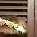 vintage rose lady hajdísz, Esküvő, Esküvői ékszer, Virágkötés, Esküvőre,koszorús lánykáknak, babáknak fotózáshoz is ajánlom ezt a romantikus apró hab rózsákból fo..., Meska