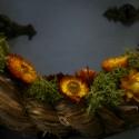 Őszbe burulva, Dekoráció, Otthon, lakberendezés, Virágkötés, Szalma alapra készült természetes száraz virágokból,ez az őszi kopogtató,30 cm átmérőjű, kérésre más..., Meska