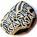 Zebrium, Dekoráció, Otthon, lakberendezés, Dísz, Decoupage, szalvétatechnika, Festett tárgyak, Dísznek a lakásodba vagy papírnehezéknek az irodába egyaránt alkalmas.   Zebra mintás, decoupage al..., Meska