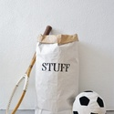 Stuff papírzsák, Baba-mama-gyerek, Dekoráció, Otthon, lakberendezés, Tárolóeszköz, Festett tárgyak, Elsősorban a gyerekszobába játékok tárolására készültek a zsákok, de tarthatsz benne szinte bármit:..., Meska