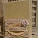 """""""Szövetség"""" - esküvői képeslap, Dekoráció, Esküvő, Képeslap, album, füzet, Nászajándék, Papírművészet, Egy érdekesen összehajtott képeslap, melyre az ifjú pár neve kerül; belső oldalára - egy általad vá..., Meska"""