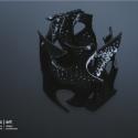 parametric   art 'gyroid' generatív 3D nyomtatott karkötő, Ékszer, óra, Ruha, divat, cipő, Mindenmás, Karkötő, Ékszerkészítés, Mindenmás, Matematikai algoritmusokkal parametrikusan tervezett generatív 3D nyomtatott karkötő 100%-ban körny..., Meska