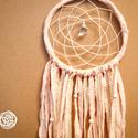 Álomcsapda - Puha Csipkék - Natúr rózsaszín álomfogó csipkével és textilekkel, Dekoráció, Mindenmás, Baba-mama-gyerek, Dísz, Csipkekészítés, Álomcsapda - Puha Csipkék  Natúr rózsaszín álomfogó csipkével és textilekkel  20cm átmérőjű natúr r..., Meska