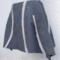 Szürke asszimetrikus vászon szoknya, Ruha, divat, cipő, Női ruha, Szoknya, Varrás, Szürke vászonból készült szoknya, ami fönt szűk és lefelé fokozatosan bővül. A szoknya kettő szélső..., Meska