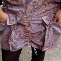 Mályva, húzott zsebes miniszoknya, Ruha, divat, cipő, Női ruha, Szoknya, Varrás, Mályvás-lilás-szürke-bézs színű, húzott zsebes szoknya. Nagyon szép mintázata van. A szoknya bélelt..., Meska