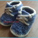 Horgolt cipő 10-11cm talphossz, Baba-mama-gyerek, Ruha, divat, cipő, Cipő, papucs, Horgolás, Ez a cipőcske azonnal vihető! 10-11cm-es talphosszig jó.  , Meska