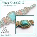INKA sujtás karkötő elkészítési segédlet egyéni felhasználásra, Mindenmás, Csináld magad leírások, Inka karkötő A minta tartalma Részletes lépésről-lépésre szöveges  magyarázatot és 97 db színes fotó..., Meska