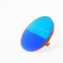 Kék - gyűrű, Ékszer, óra, Gyűrű, Ékszerkészítés, Festett tárgyak, A fa elemet kék színű lazúrfestékkel és királykék színű akrilfestékkel festettem át.   Felhasznált ..., Meska