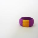 Lila arany fa - gyűrű, Ékszer, óra, Gyűrű, Ékszerkészítés, A gyűrűk fenyőfából készültek amelyet saját kezűleg festettem.  Két méretben kapható.  - az egyik 7...., Meska