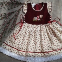 """""""Bori"""" lányka ruha, Baba-mama-gyerek, Ruha, divat, cipő, Gyerekruha, Hímzés, Varrás, lányka ruha kord, és flanel anyagból, kétoldalt fűzővel szabályozható a bősége.80-128 méretig készí..., Meska"""