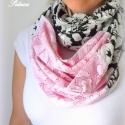 Csipkés körsál rózsaszín kendő kámzsa, Ruha, divat, cipő, Kendő, sál, sapka, kesztyű, Kendő, Sál, Varrás, Szerelem első látásra, mit is  mondhatnék erről a sálról... A színek és textúrák jól sikerült kombi..., Meska