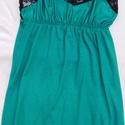 Jázmin zöld hálóing, Ruha, divat, cipő, Női ruha, Fehérnemű, Varrás, Elasztikus pamutból készült hálóing. A vásárlás napján postára adom vagy személyesen is átvehető Bu..., Meska