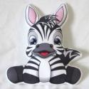 Zebra párna, Baba-mama-gyerek, Játék, Gyerekszoba, Plüssállat, rongyjáték, Varrás, Pihe-puha polár anyagból varrom ezeket az édes párnácskákat, hogy a picurok kedvenc alvós játékává ..., Meska