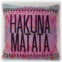 Hakuna Matata, Otthon, lakberendezés, Ruha, divat, cipő, Dekoráció, Lakástextil, Varrás, Csodaszép díszpárna, egyedi üzenettel!  Fiatal lányoknak, hölgyeknek a saját, vagy a kollégiumi szo..., Meska
