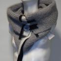 Nyakmelegítő, sál, Ruha, divat, cipő, Kismamaruha, Női ruha, Kötés, Akció!  A sál korábbi ára: 14500Ft volt, most a Tiéd lehet: 9900Ft-ért.  A szürke nyakmelegítő, gya..., Meska