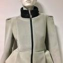 Szürke női kabát, Ruha, divat, cipő, Női ruha, Kabát, Varrás, Akció!  A kabát korábbi ára: 45500Ft volt, most a Tiéd lehet 25500Ft-ért! Különleges szabása miatt ..., Meska