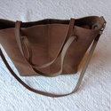 Bivalybőr pakolós  női táska , Táska, Válltáska, oldaltáska, Bőrművesség, Varrás, 30*30*14 cm női táska, kivehető vászon béléssel. Praktikus, mert a belseje kivehető. Így nem kell m..., Meska