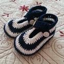 Horgolt Baba cipő, Baba-mama-gyerek, Ruha, divat, cipő, Baba-mama kellék, Cipő, papucs, Horgolás, Horgolt babacipő,.Alkalmas babakocsi cipőnek, fotózáshoz,minden napra,de szép ajándék is lehet baba..., Meska